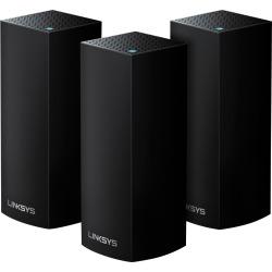 Linksys - Velop Tri-Band Mesh Wi-Fi System (3 Pack) - Black