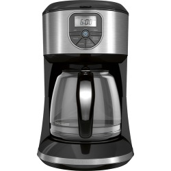 Black & Decker - 12-Cup* Coffee Maker - Black/Silver