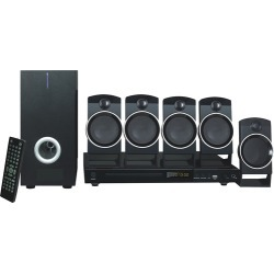 naxa - DVD Home Theater System - Black