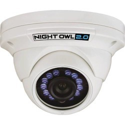 Night Owl - Indoor/Outdoor 1080p Wired Dome Camera - White found on Bargain Bro India from Best Buy for $68.99