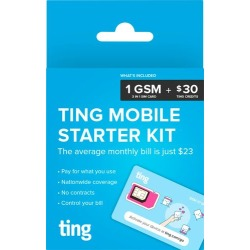 Ting - GSM Sim Card Kit for Unlocked Phone with $30 Service Credit