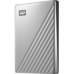 WD - My Passport Ultra 1TB External USB 3.0 Portable Hard Drive with Hardware Encryption - Silver