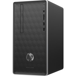 HP - Pavilion Desktop - AMD A9-Series - 4GB Memory - 1TB Hard Drive - HP Finish In Ash Silver