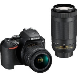 Nikon - D3500 DSLR Two Lens Kit with AF-P DX NIKKOR 18-55mm f/3.5-5.6G VR & AF-P DX NIKKOR 70-300mm f/4.5-6.3G ED