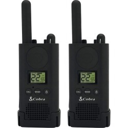 Cobra - MicroTALK 35-Mile, 22-Channel FRS/GMRS 2-Way Radios (Pair) - Black
