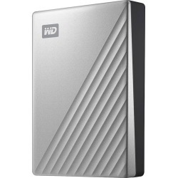WD - My Passport Ultra 4TB External USB 3.0 Portable Hard Drive with Hardware Encryption - Silver