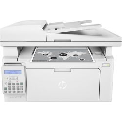 HP - LaserJet Pro MFP M130fn Black-and-White All-In-One Laser Printer - White found on Bargain Bro India from Best Buy for $179.99