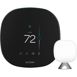 ecobee - Smart Thermostat with Voice Control - Black
