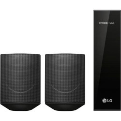 LG - 120W Wireless Surround Sound Speaker Kit - works with select LG soundbars - Black