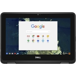 "Dell - 2-in-1 11.6"" Touch-Screen Chromebook - Intel Celeron - 4GB Memory - 32GB eMMC Flash Memory - Gray"