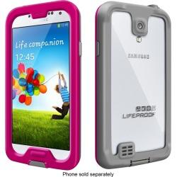 Lifeproof - Nüüd Case For Samsung Galaxy S 4 Cell Phones - Magenta/gray