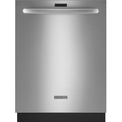 """KitchenAid - Architect Series II 24"""" Built-In Dishwasher with Stainless Steel Tub - Stainless steel"""