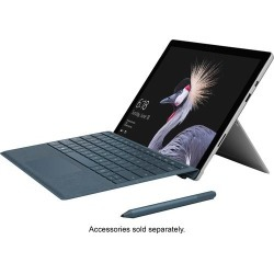 """Microsoft - Surface Pro - 12.3"""" Touch-Screen - Intel Core i7 - 8GB Memory - 256GB Solid State Drive (Fifth Generation) - Silver"""