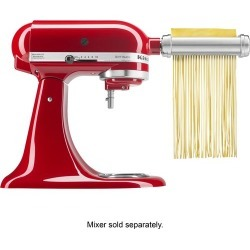 KitchenAid - KSMPRA Pasta Roller Attachments for Most KitchenAid Stand Mixers - Stainless-Steel