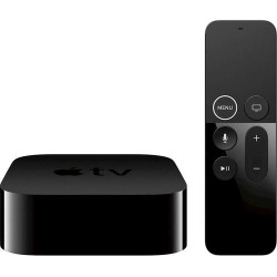 Apple - Geek Squad Certified Refurbished Apple TV 4K - 32GB (latest model) - Black
