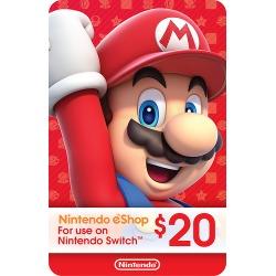 Nintendo - Nintendo eShop $20 Gift Card [Digital]