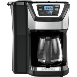 Black & Decker - Mill & Brew 12-Cup* Coffee Maker - Black