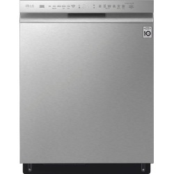 """LG - 24"""" Front Control Built-In Dishwasher with Stainless Steel Tub - Stainless steel"""
