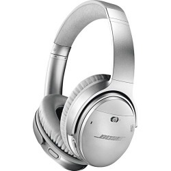 Bose® - QuietComfort 35 Wireless Noise Cancelling Headphones II - Silver