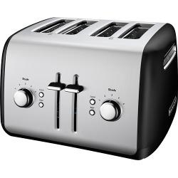 KitchenAid - KMT4115OB 4-Slice Wide-Slot Toaster - Onyx Black