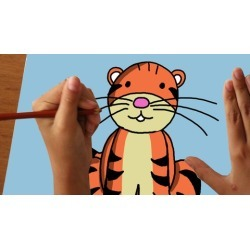 Teach to children how to draw step by step
