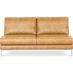 Adams Armless 2 Seater Sofa Leather Customized, Vintage Latte (Silver Leg) found on Bargain Bro Philippines from Castlery for $1146.85