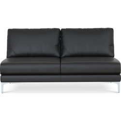 Adams Armless 2 Seater Sofa Leather Customized, Soot (Silver Leg) found on Bargain Bro Philippines from Castlery for $1146.85
