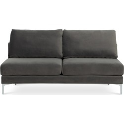 Adams Armless 2 Seater Sofa, Fog Grey Velvet (Silver Leg) found on Bargain Bro Philippines from Castlery for $616.10
