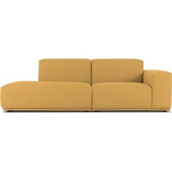 Todd Left Chaise Sofa Customized, Canary Yellow