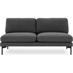 Pebble Armless 2 Seater Sofa, Fumo Grey found on Bargain Bro Philippines from Castlery for $580.24