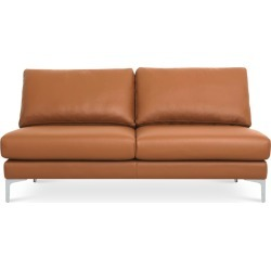 Adams Armless 2 Seater Sofa Leather, Mocha (Silver Leg) found on Bargain Bro Philippines from Castlery for $1146.85