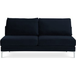 Adams Armless 2 Seater Sofa, Midnight Blue Velvet (Silver Leg) found on Bargain Bro Philippines from Castlery for $616.10
