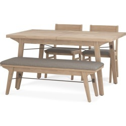 Miles Extendable Dining Table with Bench and 2 Chairs