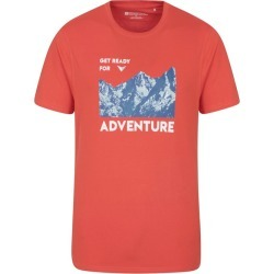 Ready For Adventure Mens Tee - Red