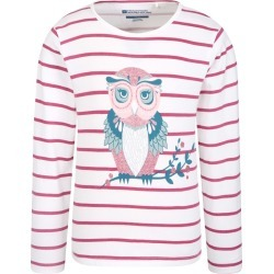 Owl Sparkle Striped Kids Tee - Pink found on Bargain Bro UK from Mountain Warehouse