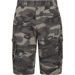 Mens Camo Cargo Shorts - Black