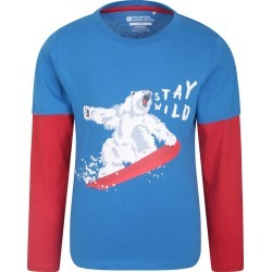 Stay Wild Kids Top - Blue found on Bargain Bro UK from Mountain Warehouse