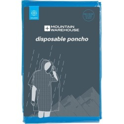 Disposable Unisex Poncho - Blue found on Bargain Bro UK from Mountain Warehouse