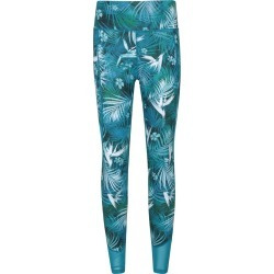 Patterned High-Waisted Panelled Womens Leggings - Green found on Bargain Bro UK from Mountain Warehouse