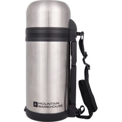 Food Flask With Handle 1.2 litre - Silver found on Bargain Bro UK from Mountain Warehouse