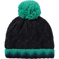 Fur Lined Kids Cable Knitted Beanie - Green found on Bargain Bro UK from Mountain Warehouse