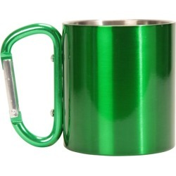 Mug with Karabiner Handle - Green found on Bargain Bro UK from Mountain Warehouse