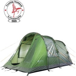 Buxton Waterproof 4 Man Tent - Green found on Bargain Bro UK from Mountain Warehouse