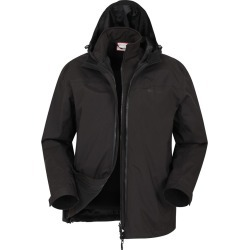 Urban Extreme Recycled 3-in-1 Mens Waterproof Jacket - Black found on Bargain Bro UK from Mountain Warehouse