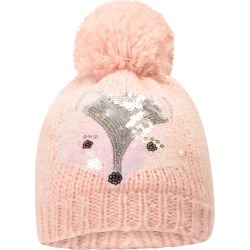 Fox Knitted Fleece-Lined Kids Hat - Pink found on Bargain Bro UK from Mountain Warehouse