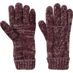 Thinsulate Cable Knit Womens Gloves - Burgundy