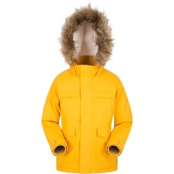 Samuel Kids Water-resistant Parka Jacket - Yellow found on Bargain Bro UK from Mountain Warehouse