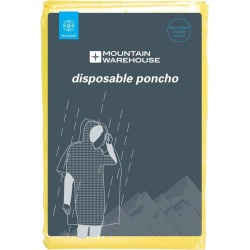 Disposable Unisex Poncho - Yellow found on Bargain Bro UK from Mountain Warehouse