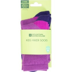 Hiker Kids Socks 2 Pack - Purple