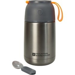 Food Flask With Spoon - 650ml - Grey found on Bargain Bro UK from Mountain Warehouse